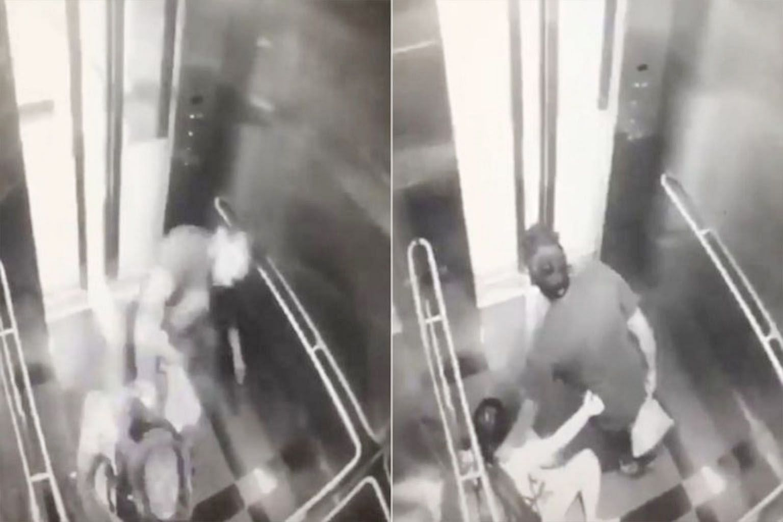 The robbery and brutal beating in the lift of an MRT station in Kuala Lumpur was captured on surveillance camera, and the video has since gone viral.