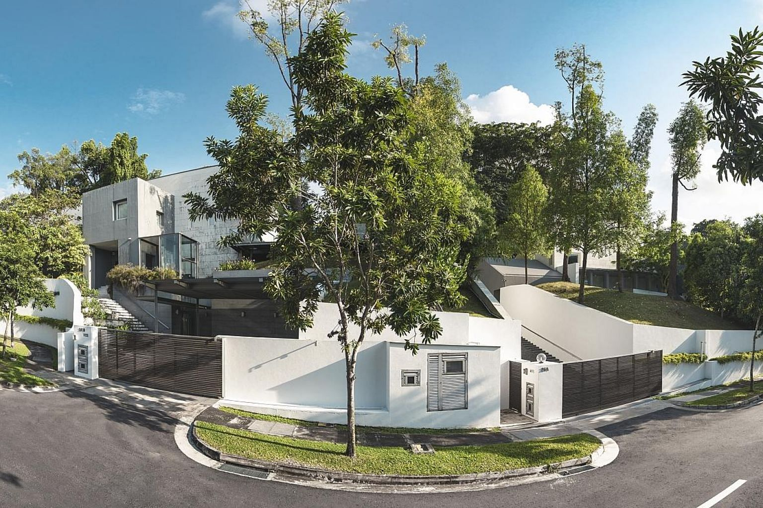 There are only about 2,500 Good Class Bungalows in Singapore, such as those in Peirce Road, near the Botanic Gardens.