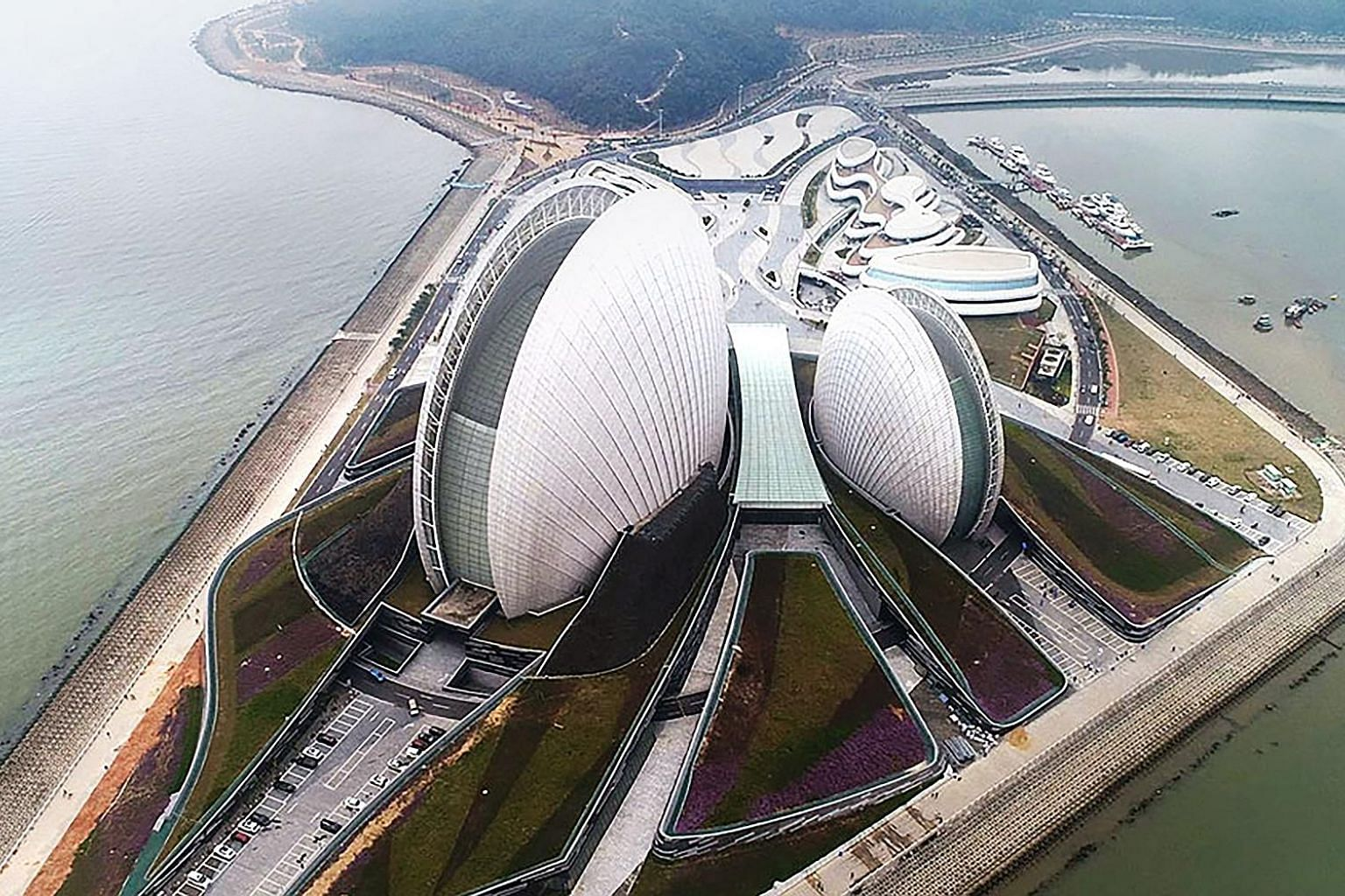 The Zhuhai Grand Theatre, a new landmark in Zhuhai, one of the 11 cities of the Pearl River Delta that will be part of the Greater Bay Area. Under the plan, Hong Kong would build on its status as an international financial, transportation and trade h