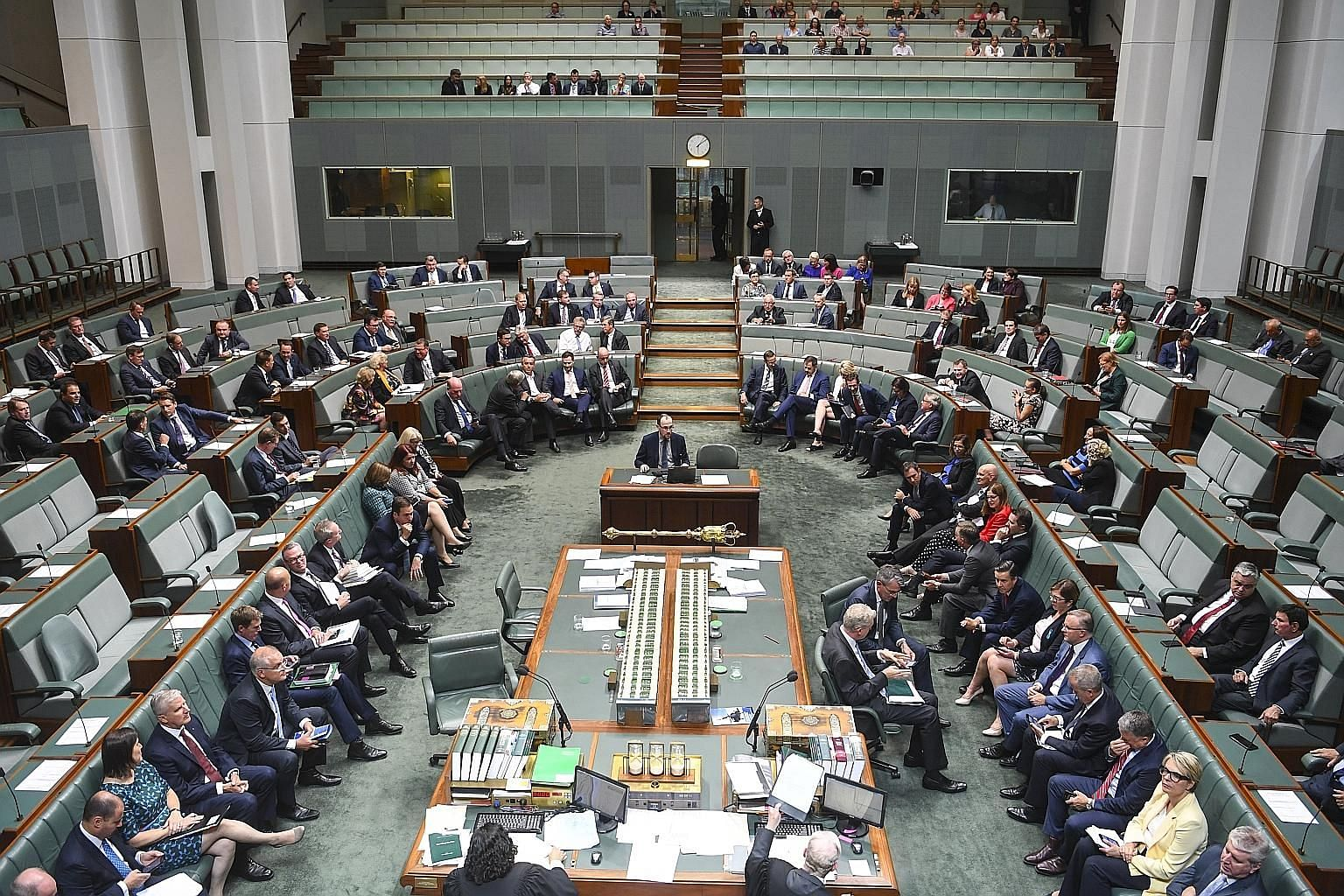 "Australia's Parliament in session. Canberra this month reported a ""security incident on the parliamentary computing network"", leading to Cabinet members changing their passwords and taking other security measures."