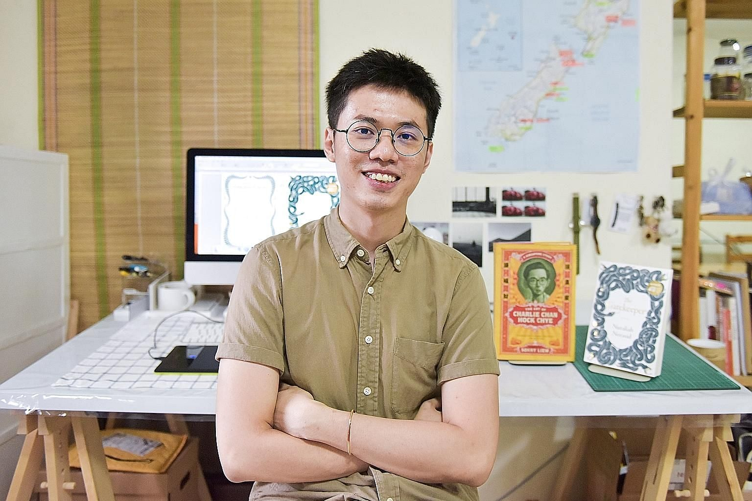 Malaysian Yong Wen Yeu (above) won the Singapore Book Publishers Association's Best Book Cover Design prize twice - in 2016 for the special edition cover of Sonny Liew's graphic novel The Art Of Charlie Chan Hock Chye and last year for The Gatekeeper