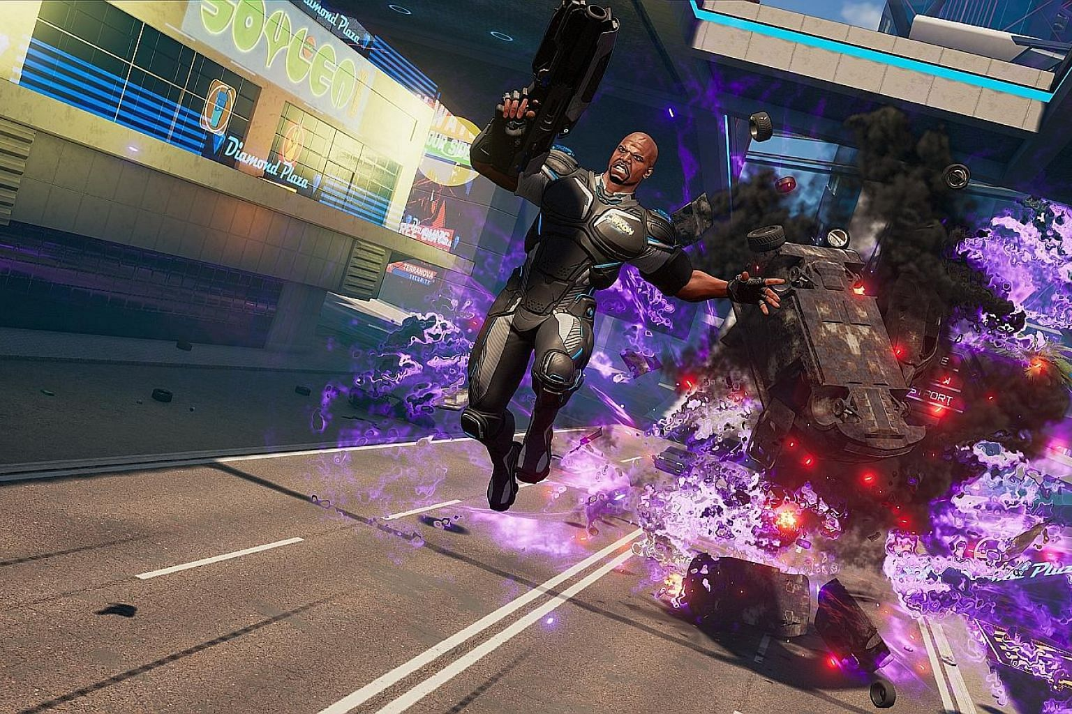 Actor Terry Crews lends his face to team commander Isaiah Jaxon in Crackdown 3.