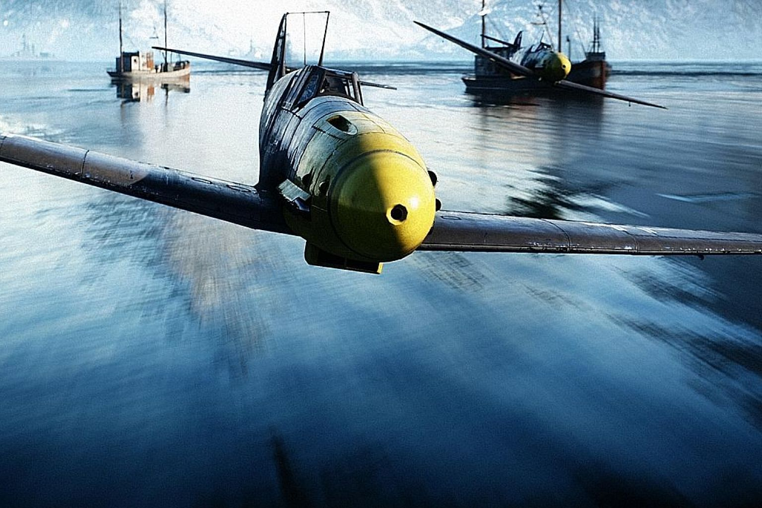 Action-packed shooting game Battlefield V uses ray tracing to create real-time reflections.