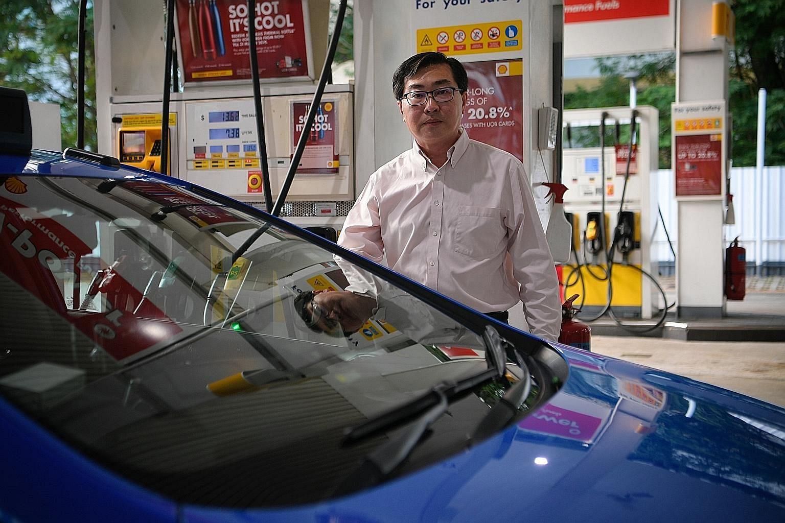 A price revision notice put up at an Esso petrol station in Toa Payoh yesterday, after the diesel duty was increased from 10 cents a litre to 20 cents a litre. Cabby Henry Tay said his running costs will likely rise by $4 to $5 a day, and the rebate