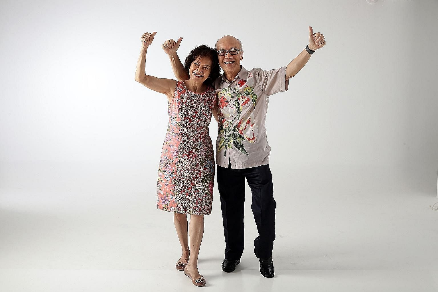 Mr Richard Tong, with his wife Rita, won a glamping trip for two to Shangri-La, Yunnan, worth $10,000, which is part of the ST+ news with benefits programme.