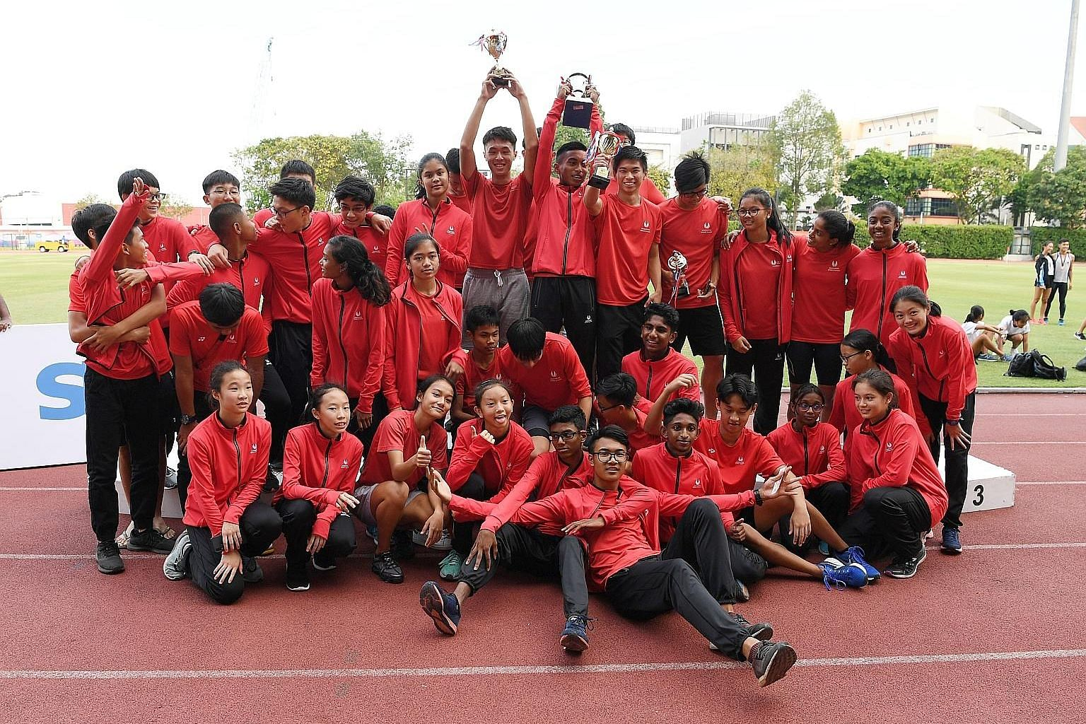 Yesterday's victory was Singapore Sports School's eighth overall title in nine years.