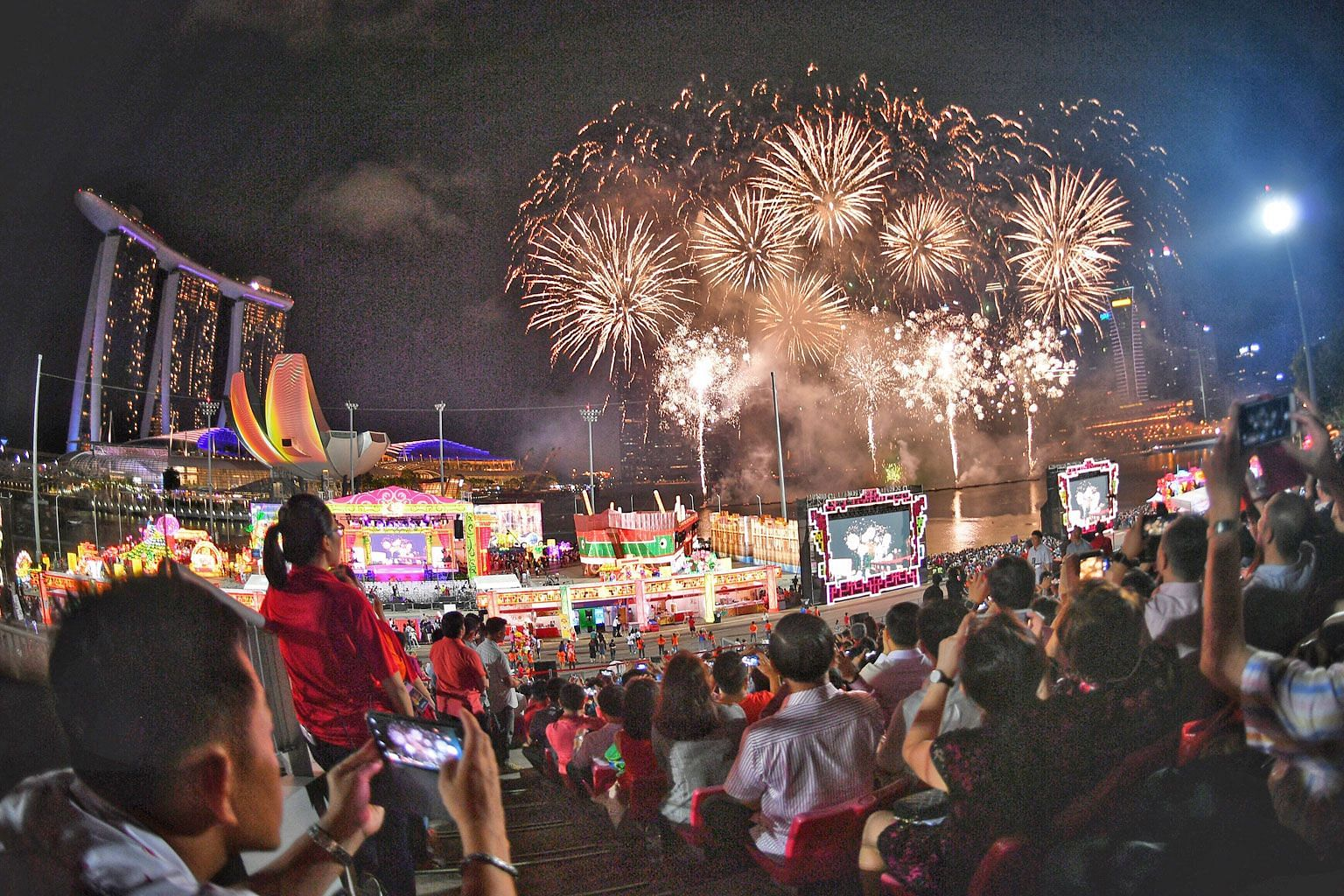 Mr Ang Wei Neng (Jurong GRC) recounted his experience as chairman of the River Hongbao organising committee and how the festival's fireworks display almost did not take place because a PUB executive had refused to issue a permit for the fireworks as
