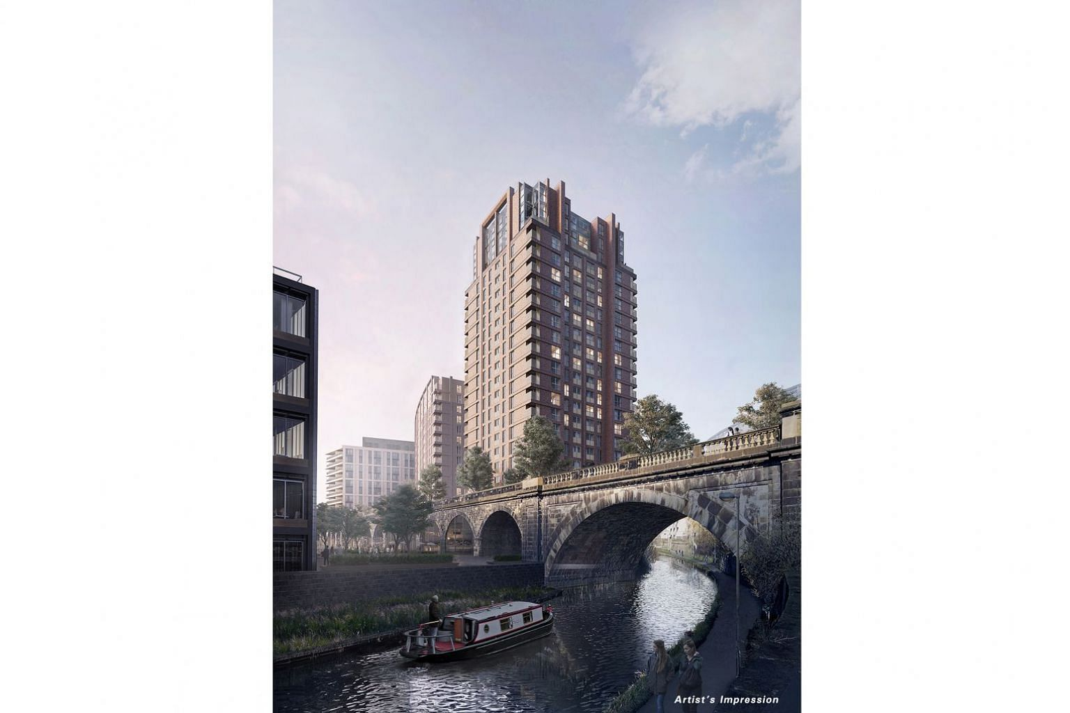 An artist's impression of CDL's Monk Bridge development in Leeds, which is expected to be completed in 2023.