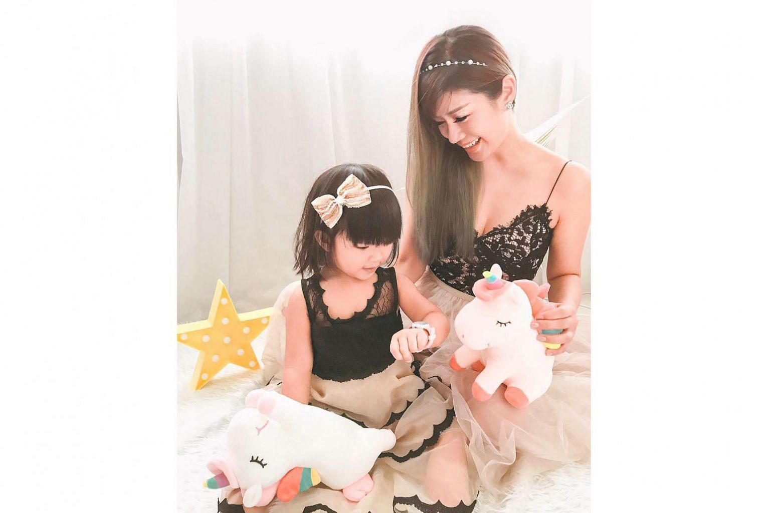 Ms Cindy Tan (with her daughter Chriselle, three) is a social media influencer, does part-time marketing for an aesthetic clinic and co-founded a photo studio specialising in family photoshoots.