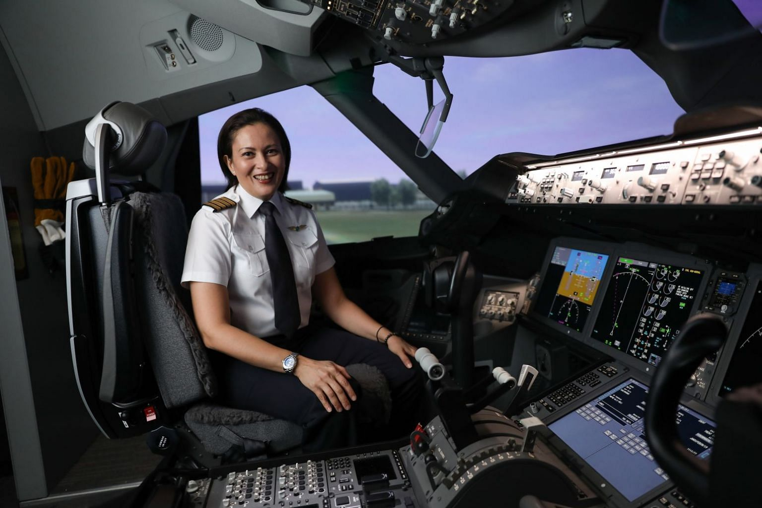 Captain Vanessa Ess is the first female to make it into SilkAir's cadet pilot programme in 2001 and also the first female pilot to graduate from Singapore Flying College.