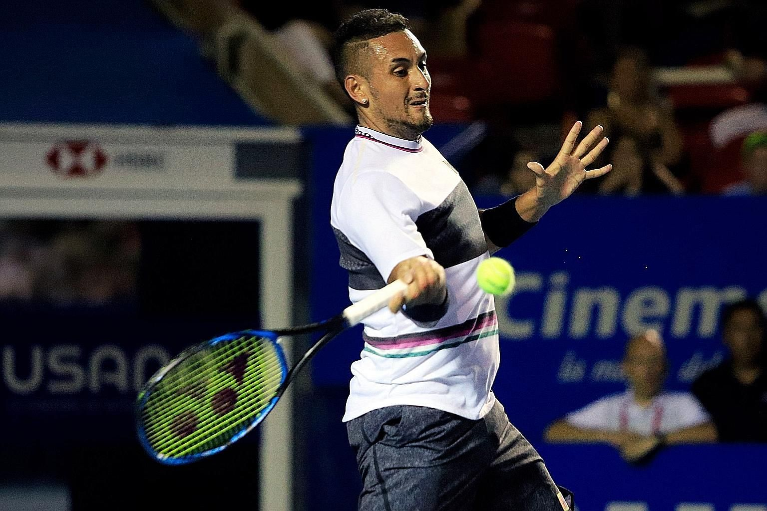 """Nick Kyrgios says he served well, made a lot of drop shots and played the big points well against his """"super-fit"""" opponent, world No. 3 Alexander Zverev."""