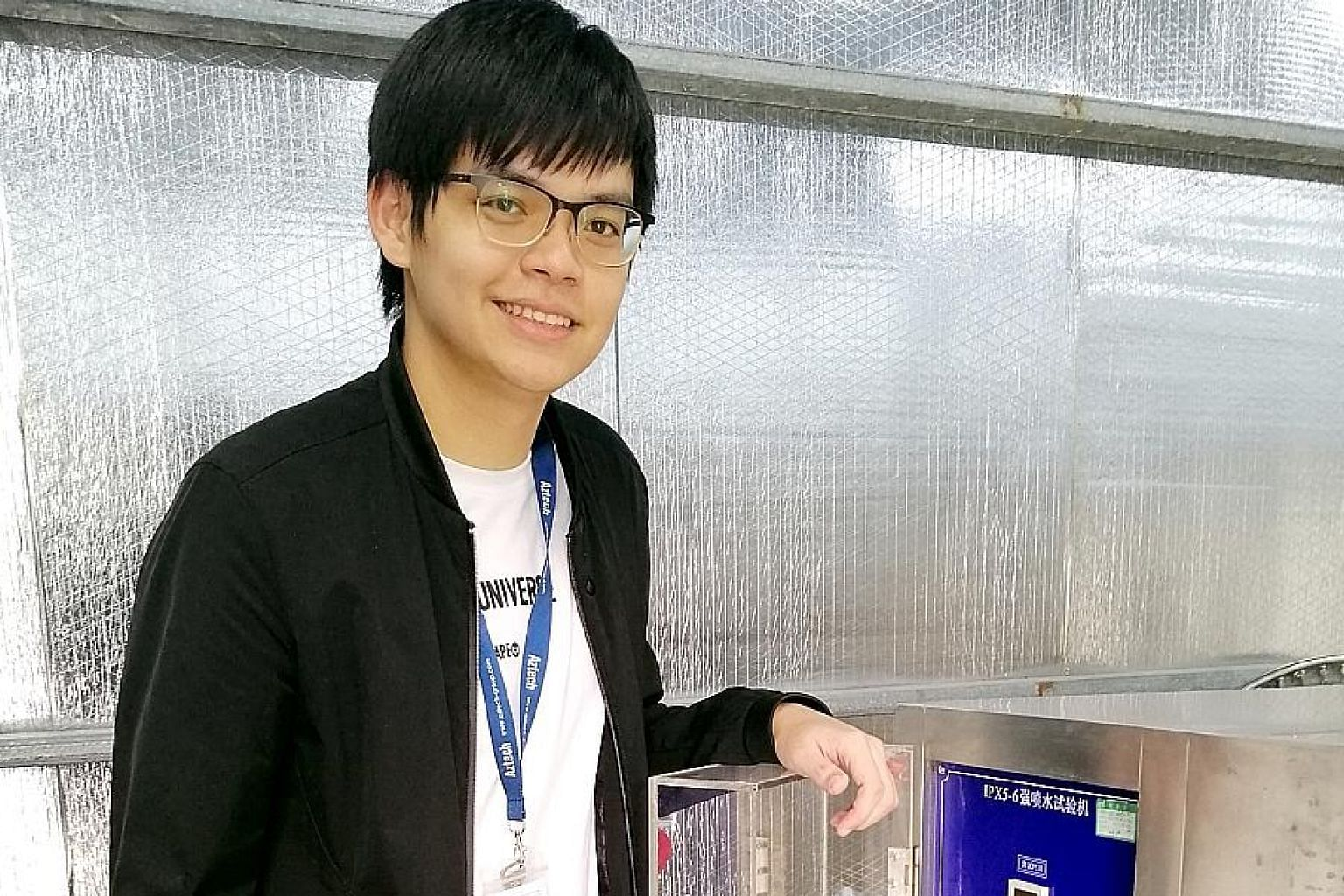 Third-year Ngee Ann Polytechnic student Chew Jing Hong, 23, interned for six months with electronics manufacturer Aztech Technologies, of which the last three months were at Aztech's Dong Guan facility in China.