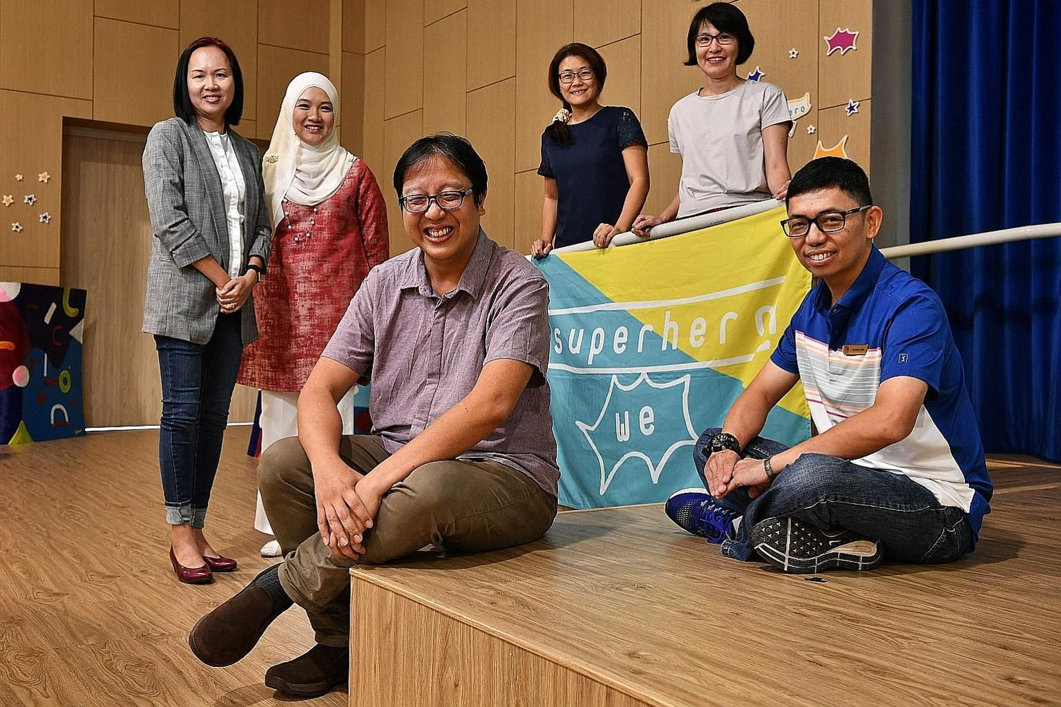 From left: Ms Lilian Kuan, Ms Fara Zainal, Mr Mark Lim, Ms Mary Heng, Ms Sun Meilan and Mr Kenneth Mah were the panellists at a workshop held at the Rainbow Centre yesterday that covered the topic of helping parents to be effective advocates for thei