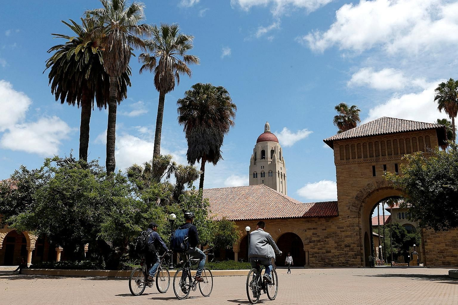 The main quadrangle at Stanford University's campus in Stanford, California. The US university is famous for producing entrepreneurs and innovators.