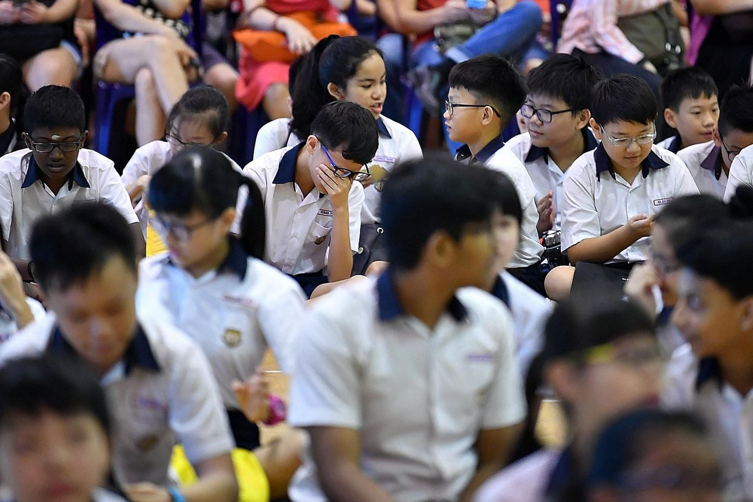 Primary 6 pupils waiting for their PSLE results in November last year. When the writer and her husband had to pick secondary schools for their daughter last year, they prioritised schools without Normal streams. We need to examine our own inherent bi