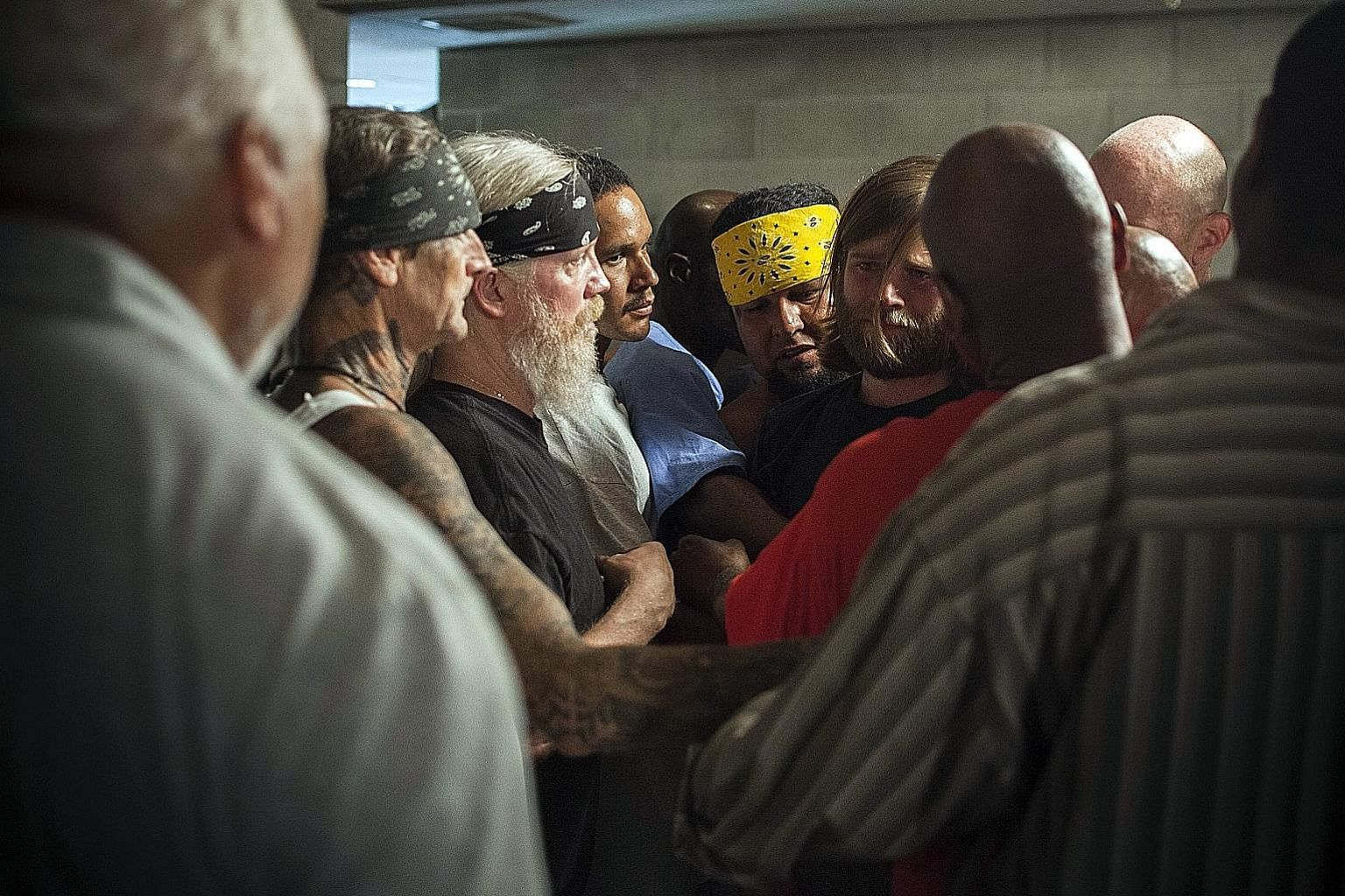 The Work documents a four-day retreat in the Folsom State Prison in California, where inmates cross racial lines that split the prison population into gangs to get therapy.