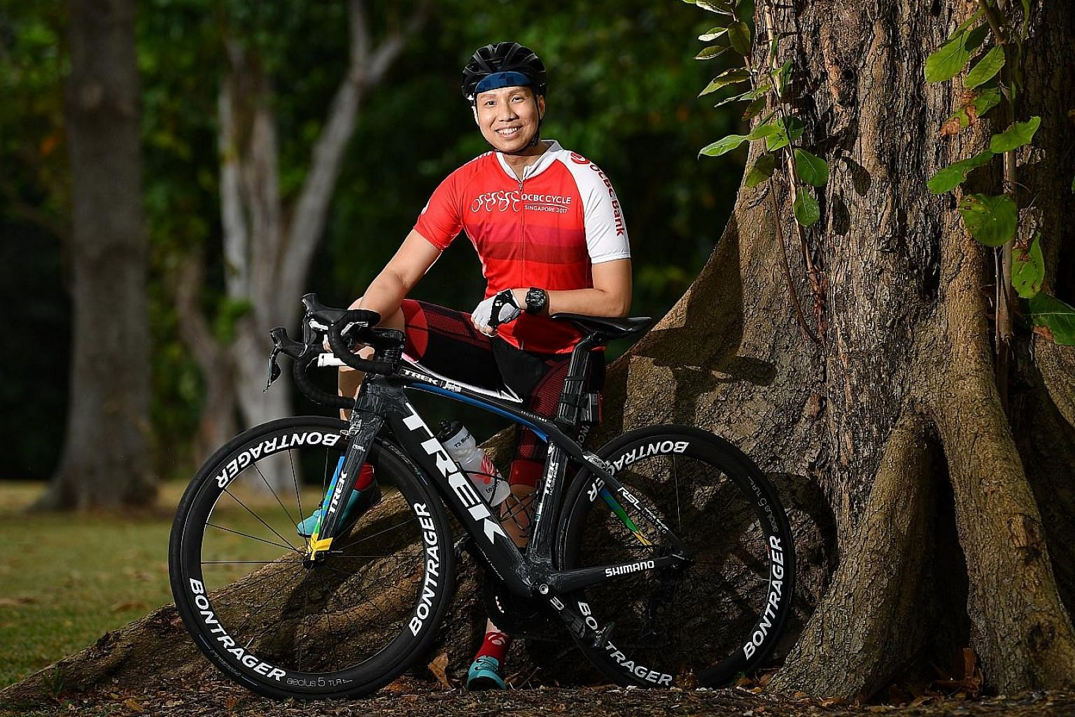Businessman Shawn Low, 37, is aiming to cycle 42km at this year's OCBC Cycle The Sportive Ride in May despite undergoing chemotherapy for brain cancer. Last year, he even rode 320km from Hanoi to Halong Bay and back with 12 people from his cycling gr