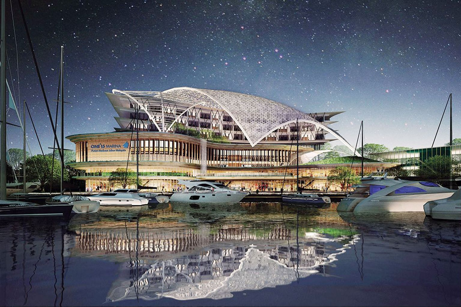 An artist's impression of the ONE°15 Marina Puteri Harbour Malaysia in Johor. The development is targeted at Malaysians, as well as expatriates living in Johor or those who own property there.