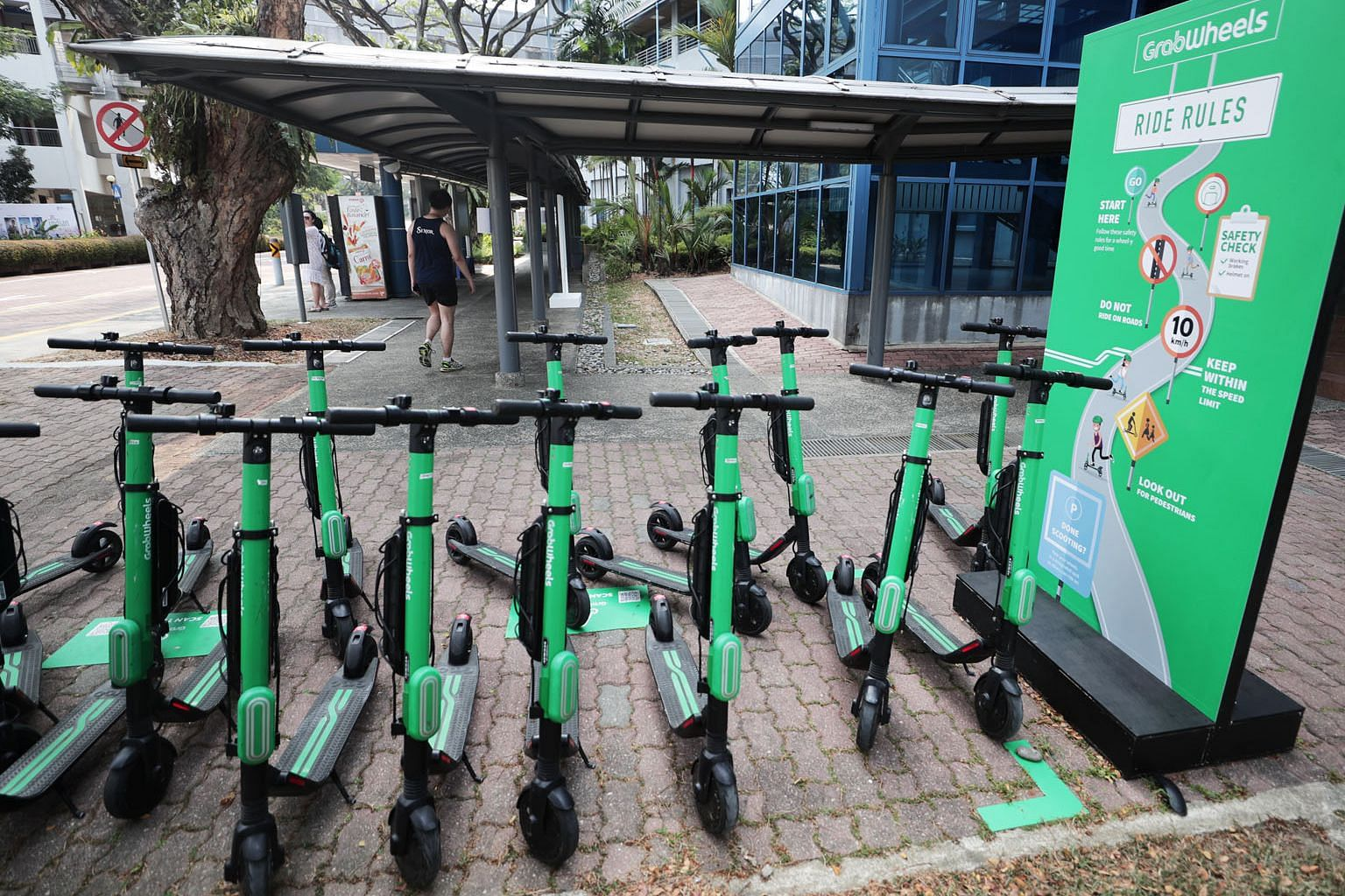 A week-long safety timeout on the GrabWheels e-scooter service trial at the National University, following a spate of injuries, will be lifted today.