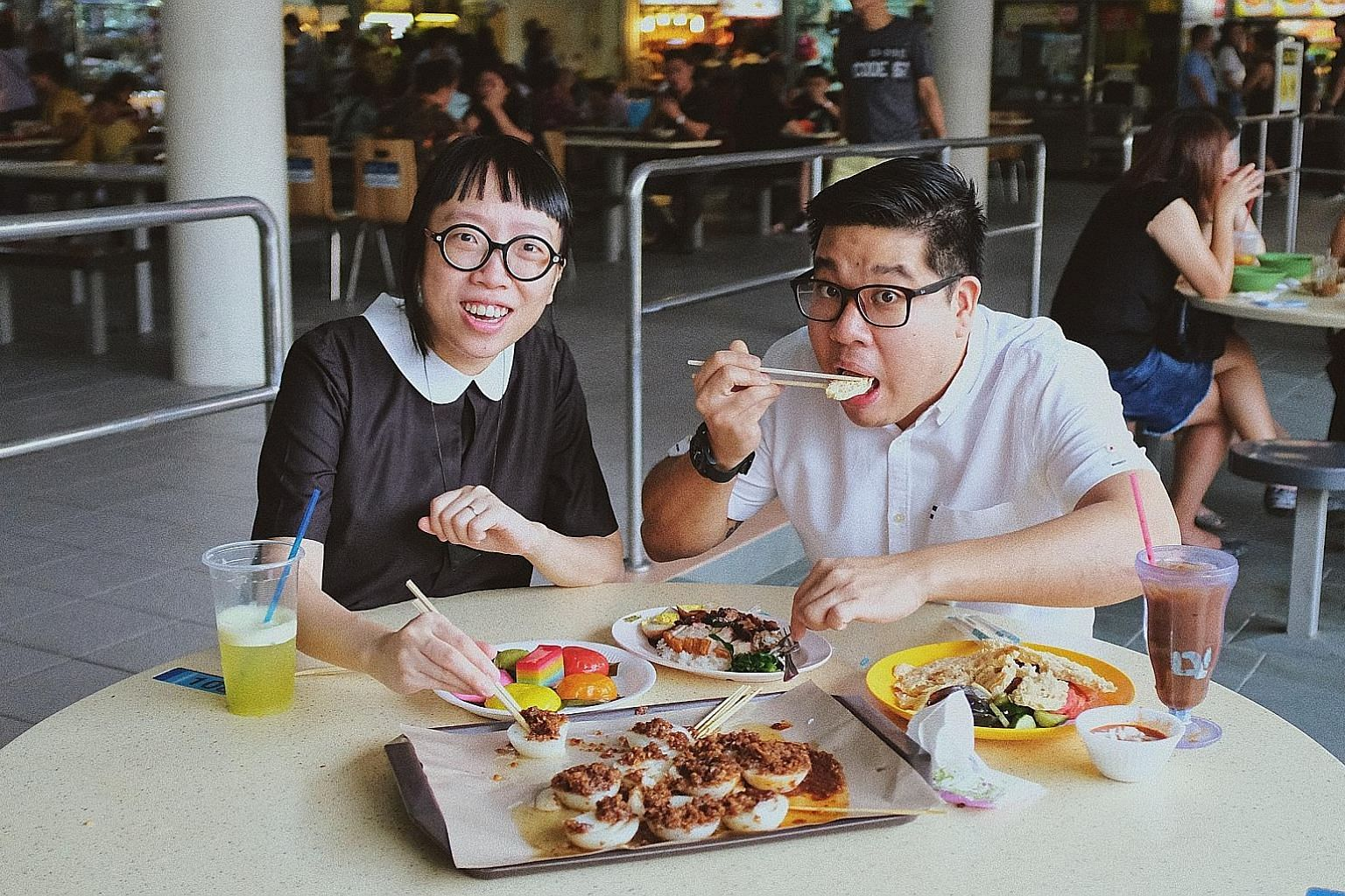 Chef Ming Tan and visual artist Debbie Ding collaborate on SAD: The Last Meal, a dystopian dining experience with hawker fare that takes on different textures, forms and ingredients.