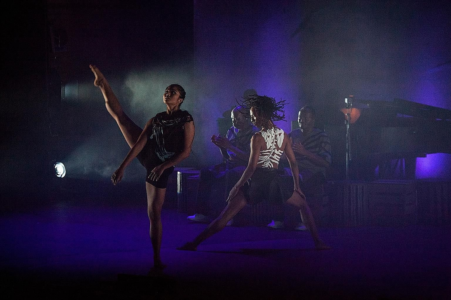 Adelene Stanley (far left) is the only Singaporean dancer performing in Inala: A Zulu Ballet.
