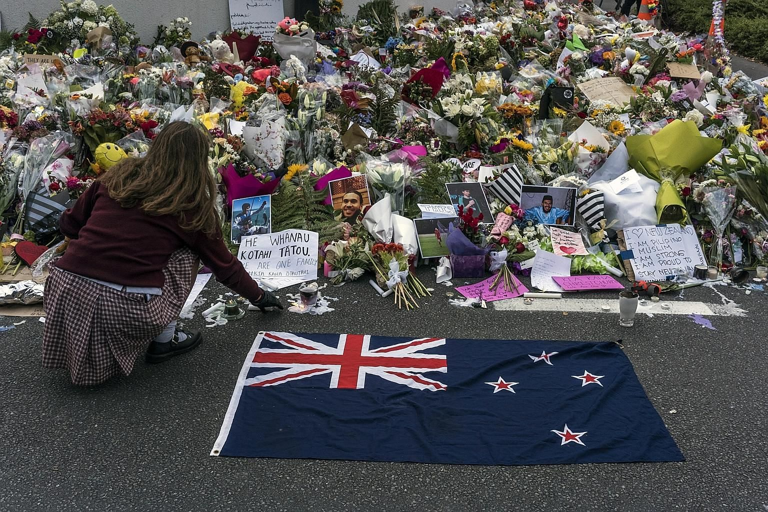 A makeshift memorial near the Al Noor Mosque for victims of last Friday's mass shooting in Christchurch. The horror of the New Zealand massacre should be a wake-up call for Big Tech and an occasion to interrogate the architecture of social networks t