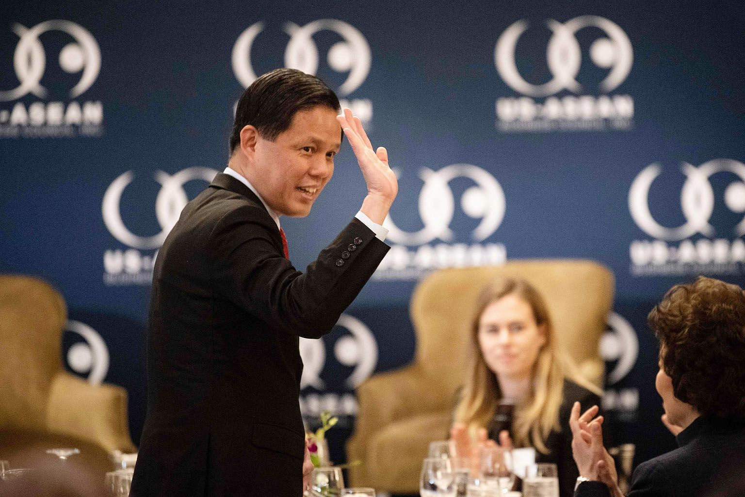 """Singapore's Trade and Industry Minister Chan Chun Sing arriving at the event organised by the US-Asean Business Council in Washington on Wednesday. On the RCEP, he said: """"The gaps are narrowing and we have a fair chance of getting it done by this yea"""