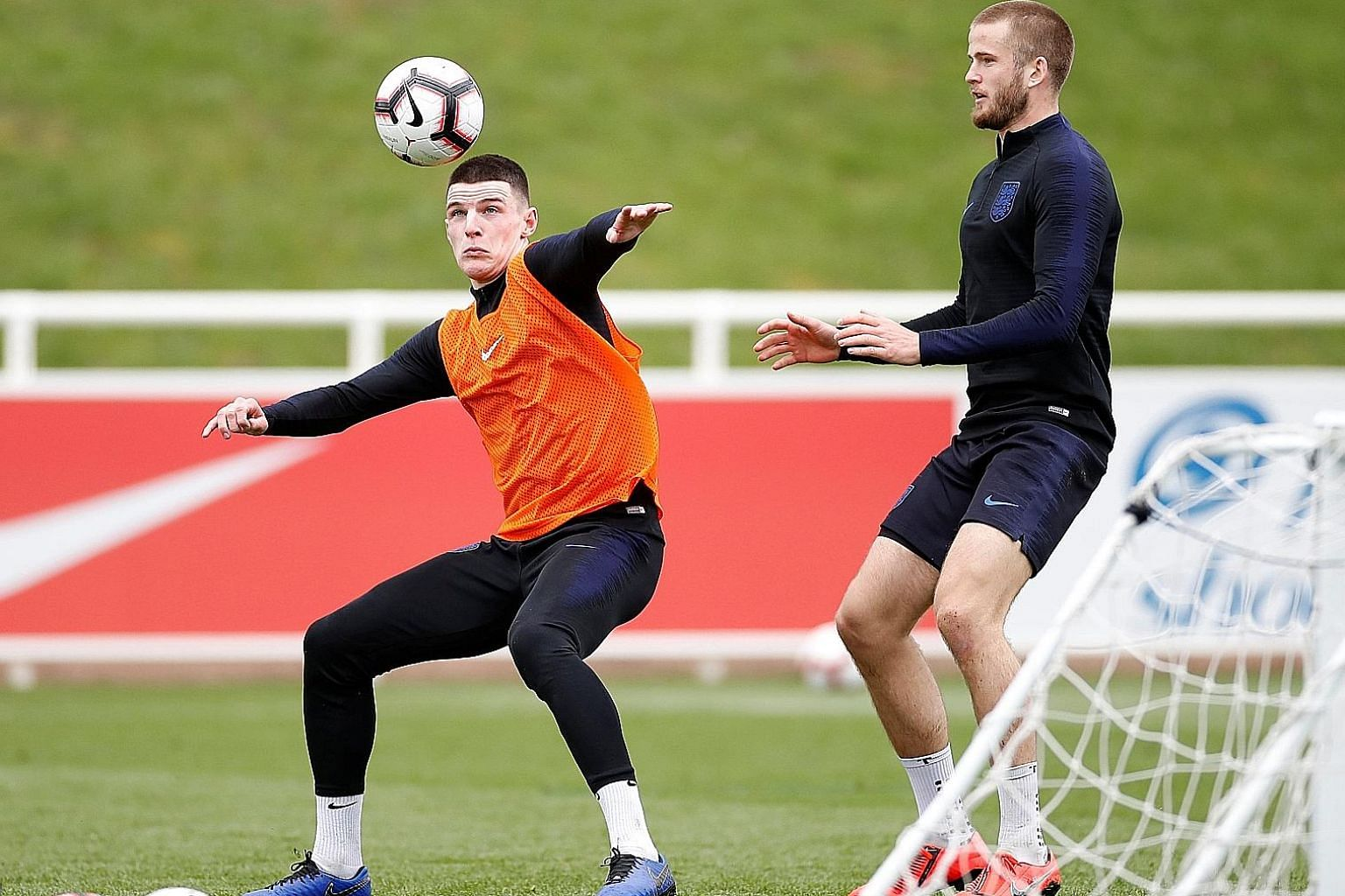 Declan Rice (left), with England teammate Eric Dier, has played three friendly internationals for the Republic of Ireland but decided to switch allegiance to England, which was approved by Fifa earlier this month.