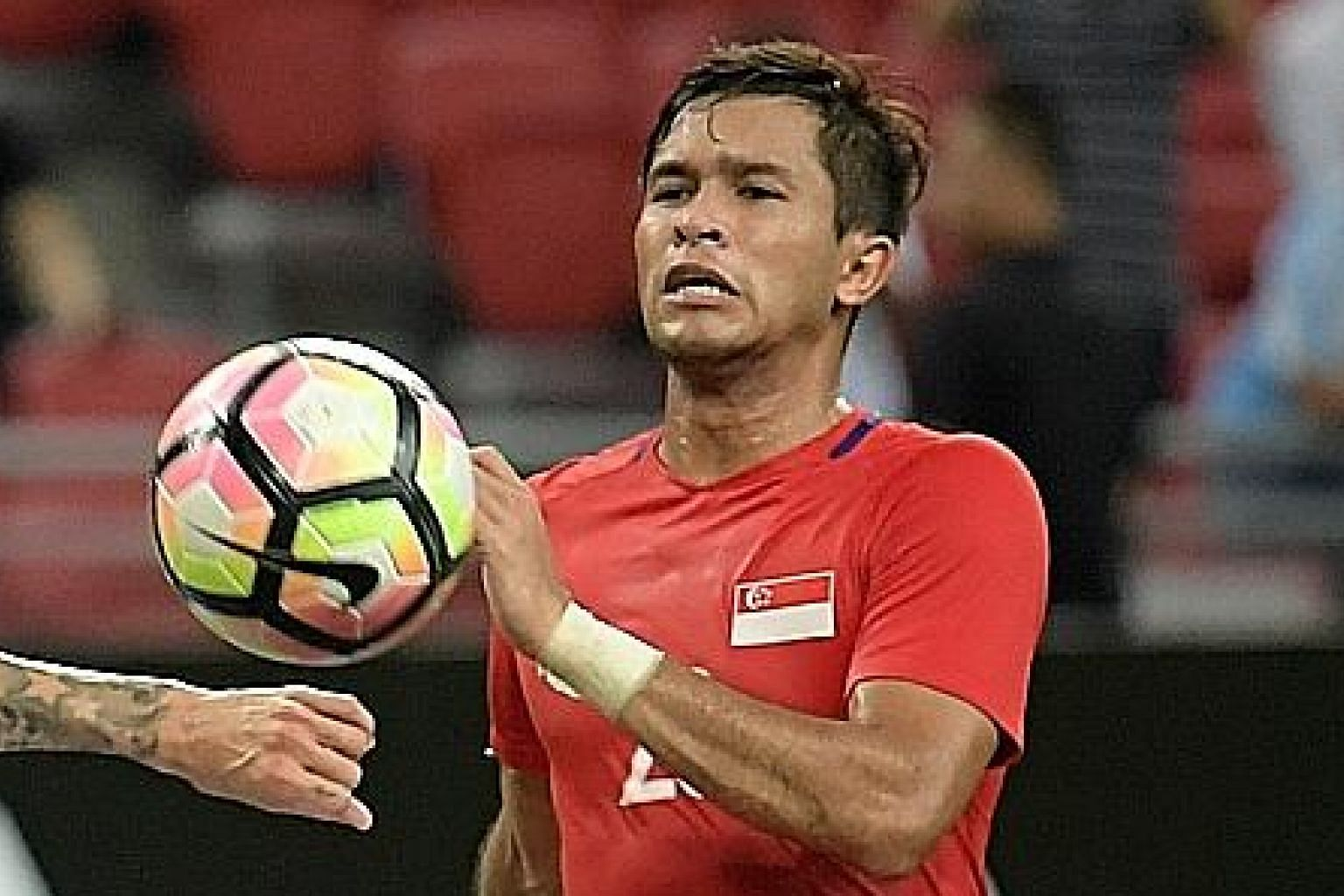 Zulfahmi Arifin earned praise from caretaker coach Nazri Nasir for sending his free kick into the top corner for his first international goal. The last-minute equaliser earned the Lions a 1-1 draw, though they lost 5-4 in the resultant penalty shoot-