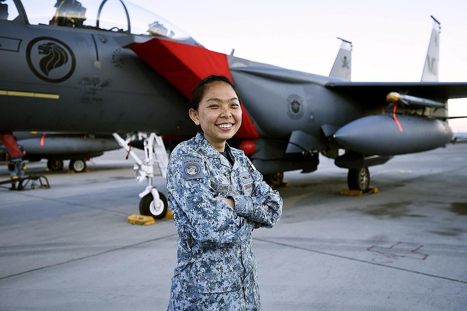 As a Republic of Singapore Air Force engineer, Military Expert 1 Joanne Lee's role was to ensure the air force's six F-15SG fighter jets were mission-ready, whatever the environment, for this year's Exercise Red Flag-Nellis in the United States.