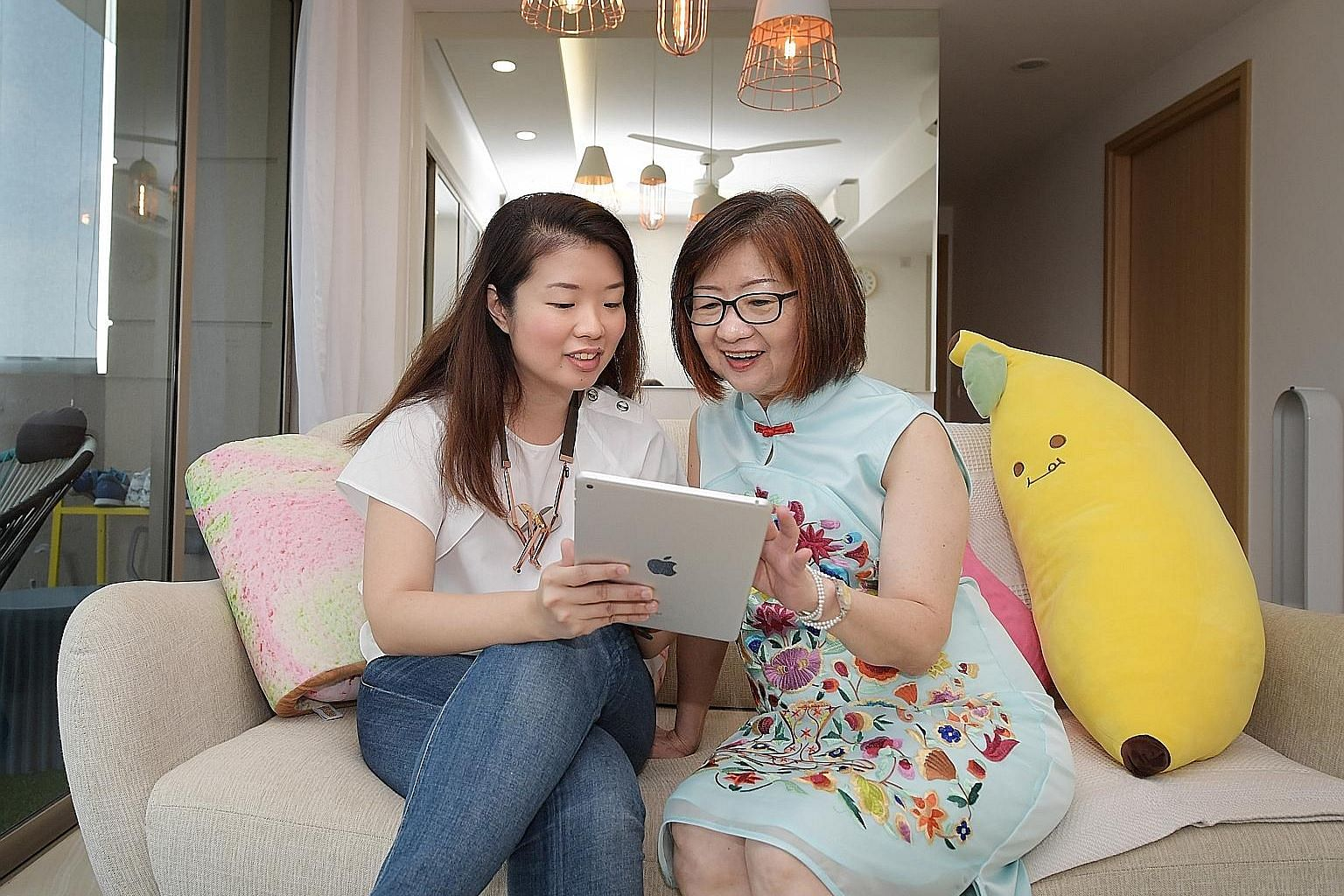 Madam Christina Yeo consults her daughter Annabel Lim, 31, before she shares a news article with her contacts - a practice the 65-year-old developed after she realised she had unknowingly helped to spread fake news.