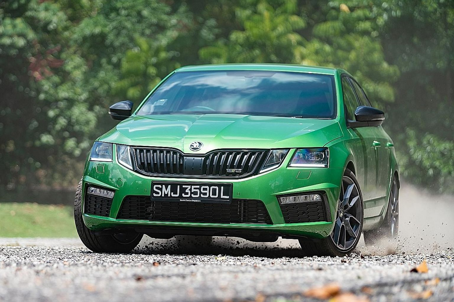 The Skoda Octavia RS245 offers a pliant ride and practicality, with its large storage points and big boot.
