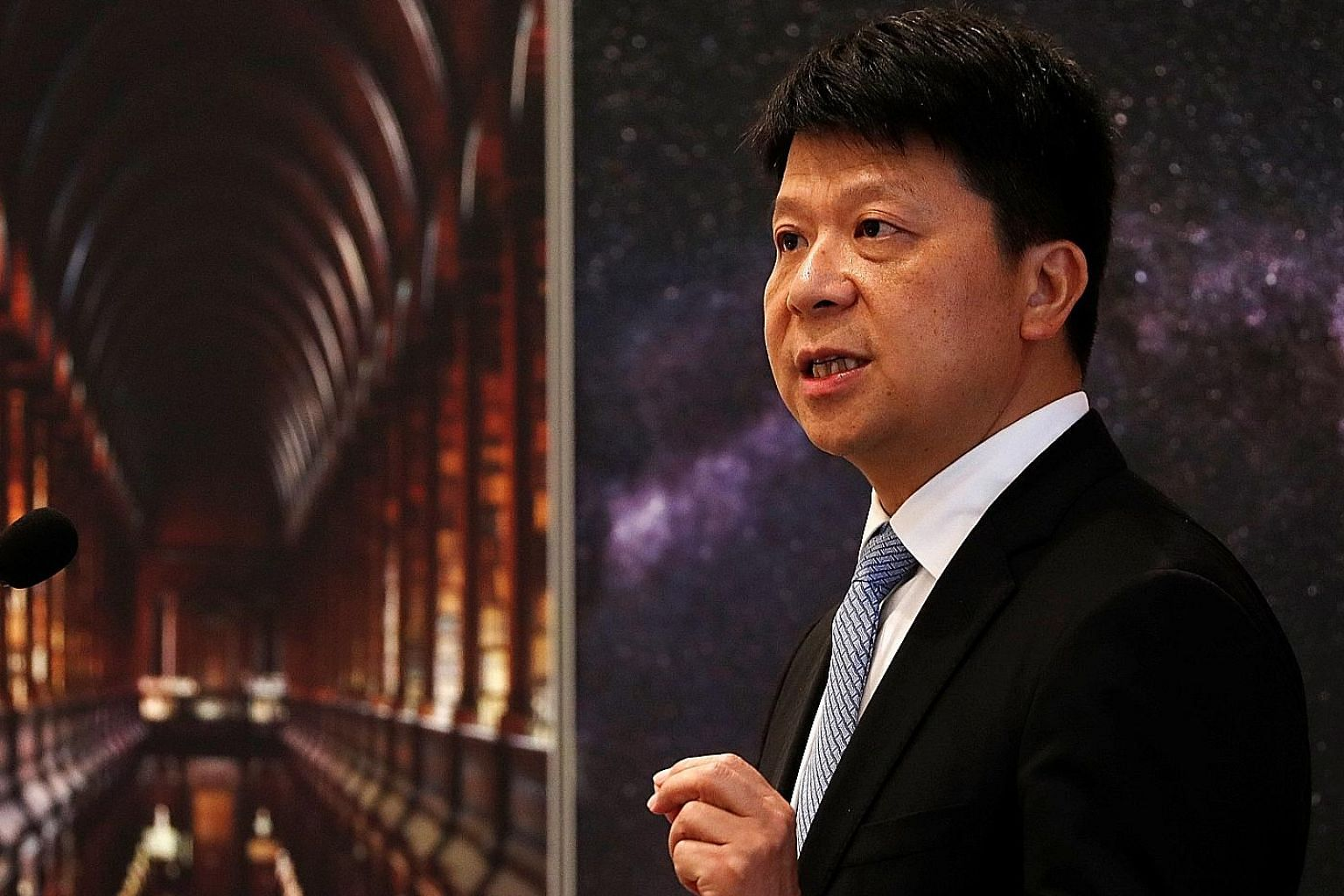 Huawei's rotating chairman Guo Ping said the company had nothing to do with the global spate of cyber-security incidents in the past two years, and that the US was out to sully the company's reputation.
