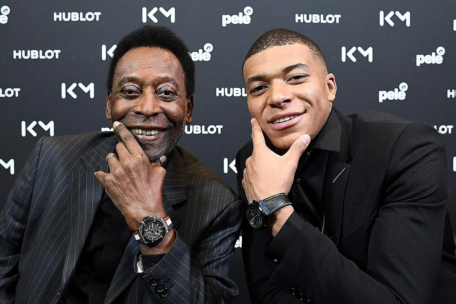 Brazilian football legend Pele, 78, has three World Cup titles while 20-year-old forward Kylian Mbappe won with France last year. The duo met at a promotional event at the Hotel Lutetia in Paris.