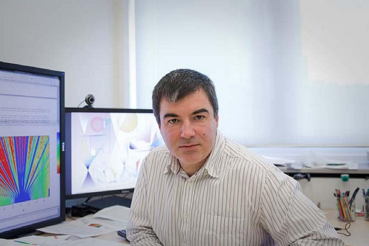 """Professor Konstantin Novoselov said he decided to move to Singapore because of the strong research base in physics and materials science, as well as the """"flexible, dynamic government"""" which has made research a key focus."""
