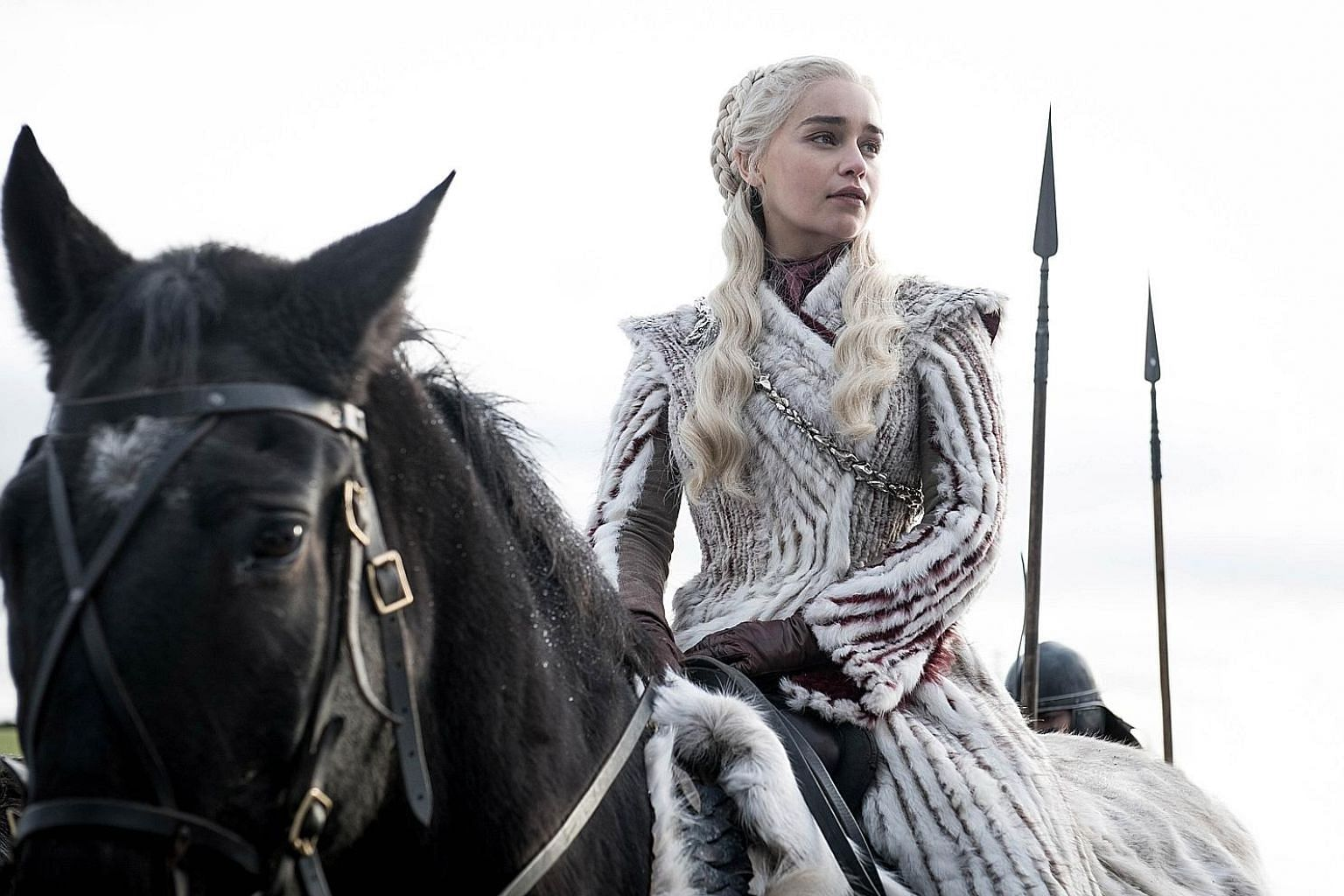 Emilia Clarke plays the role of Daenerys Targaryen in HBO's Game Of Thrones. The fire-and-ice fantasy world of Game Of Thrones may be set in feudal times, but the heady rise of women leaders on the show parallels that of women leaders around the glob