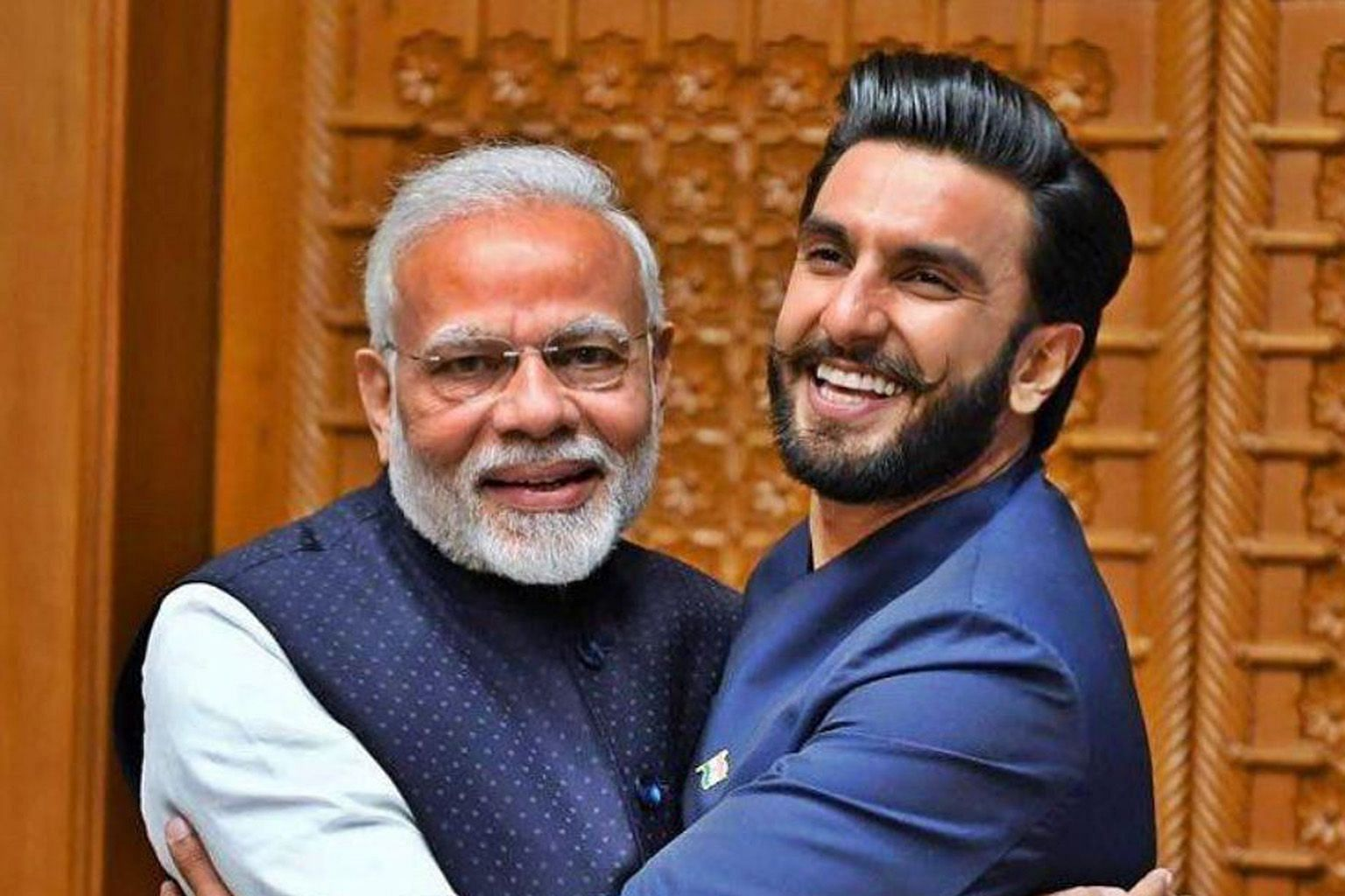 Actor Ranveer Singh's photo post of himself hugging Indian Prime Minister Narendra Modi gained more than three million likes.