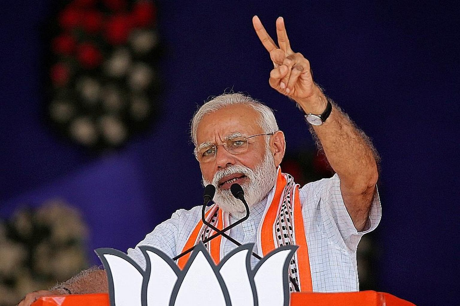 Prime Minister Narendra Modi at an election campaign rally in Gujarat on Wednesday. The writer says that unless India changes a great deal about itself - and fast - it is in danger of never performing to its potential.
