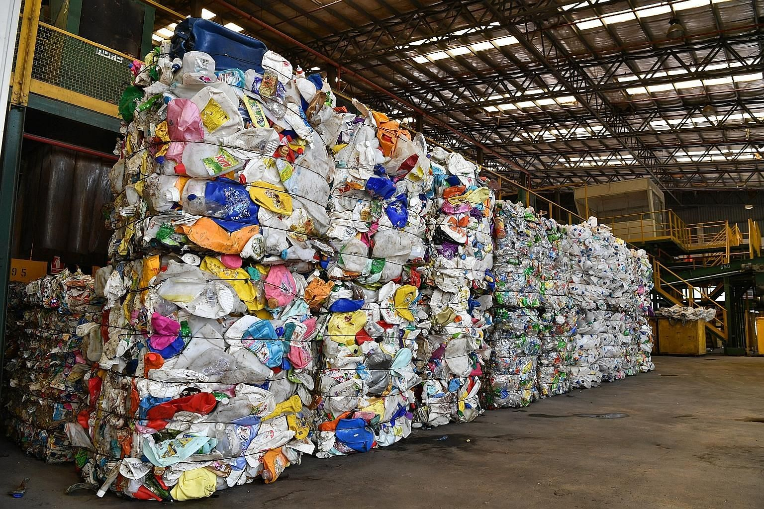 Plastic items meant for recycling. The overall recycling rate fell from 61 per cent in 2017 to 60 per cent last year. This year has been labelled the Year Towards Zero Waste, with the Environment and Water Resources Ministry noting that effecting beh