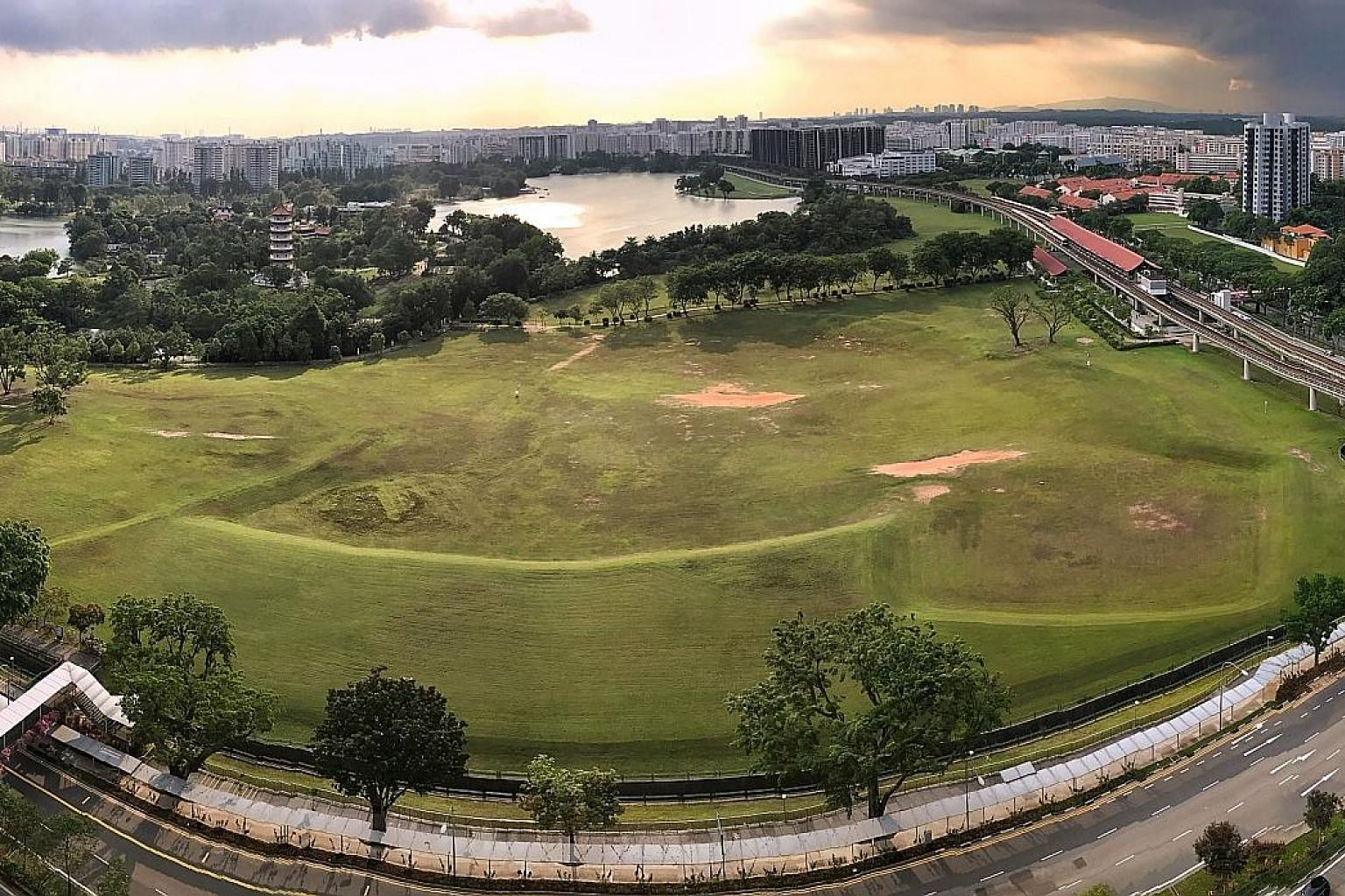 While residents cheer the move to turn this 7ha plot of land next to the Chinese Garden MRT station into an integrated tourism development, some worry about noise pollution or the area's parks being disturbed. ST PHOTO: KEVIN LIM
