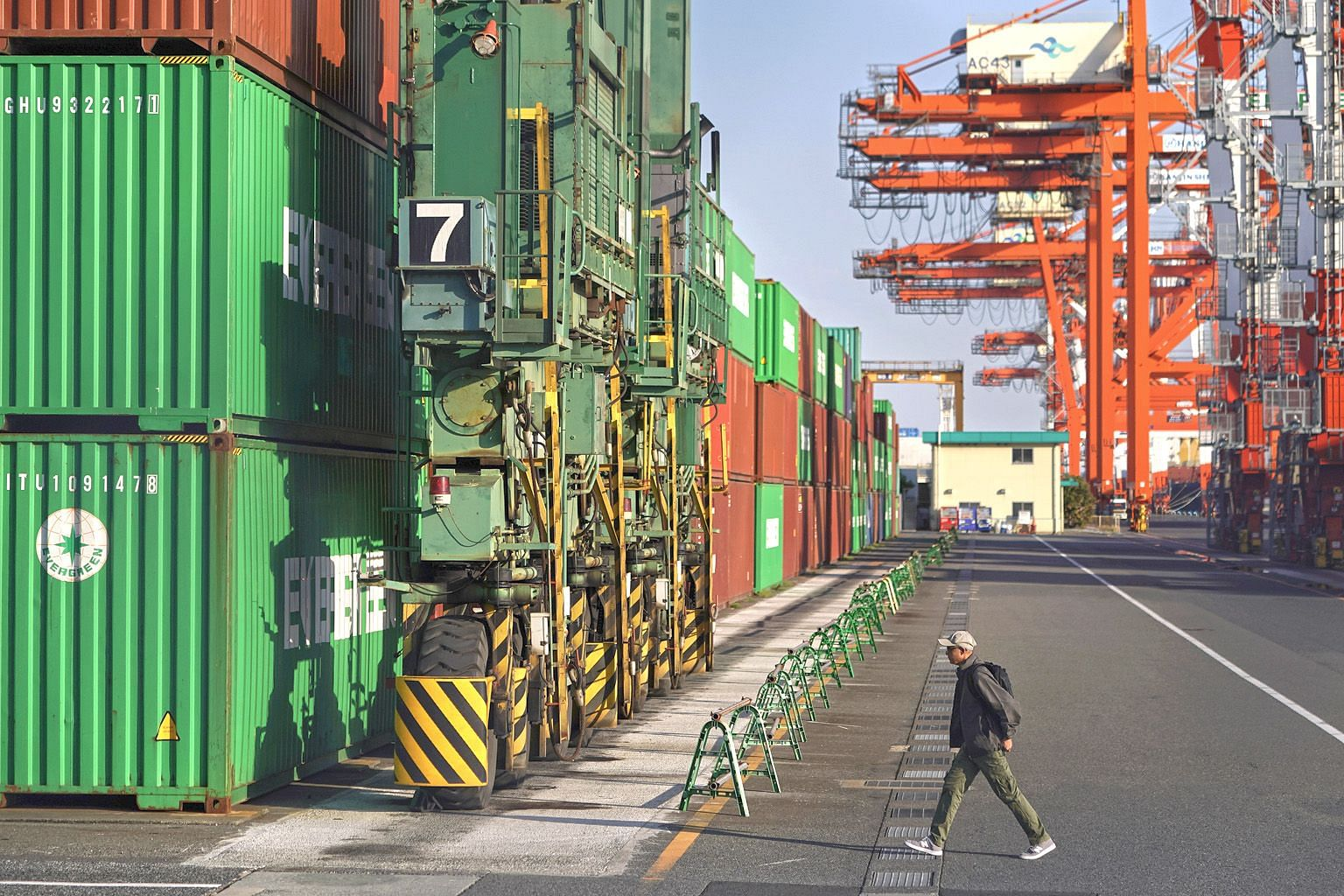 A container terminal in Tokyo. US trade officials have spelt out 22 specific negotiation areas, including non-tariff barriers in Japan's car market and currency. PHOTO: BLOOMBERG