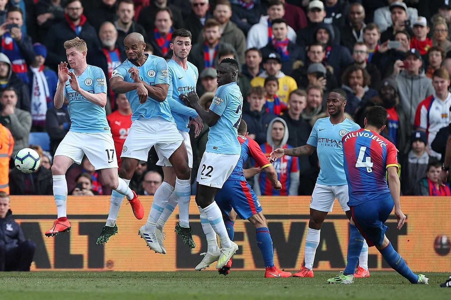 Crystal Palace and Manchester City facing off in a match on Sunday. The Singapore High Court last week granted an order sought by the London-based Football Association Premier League (FA), for nine key Internet service providers to block access by fa