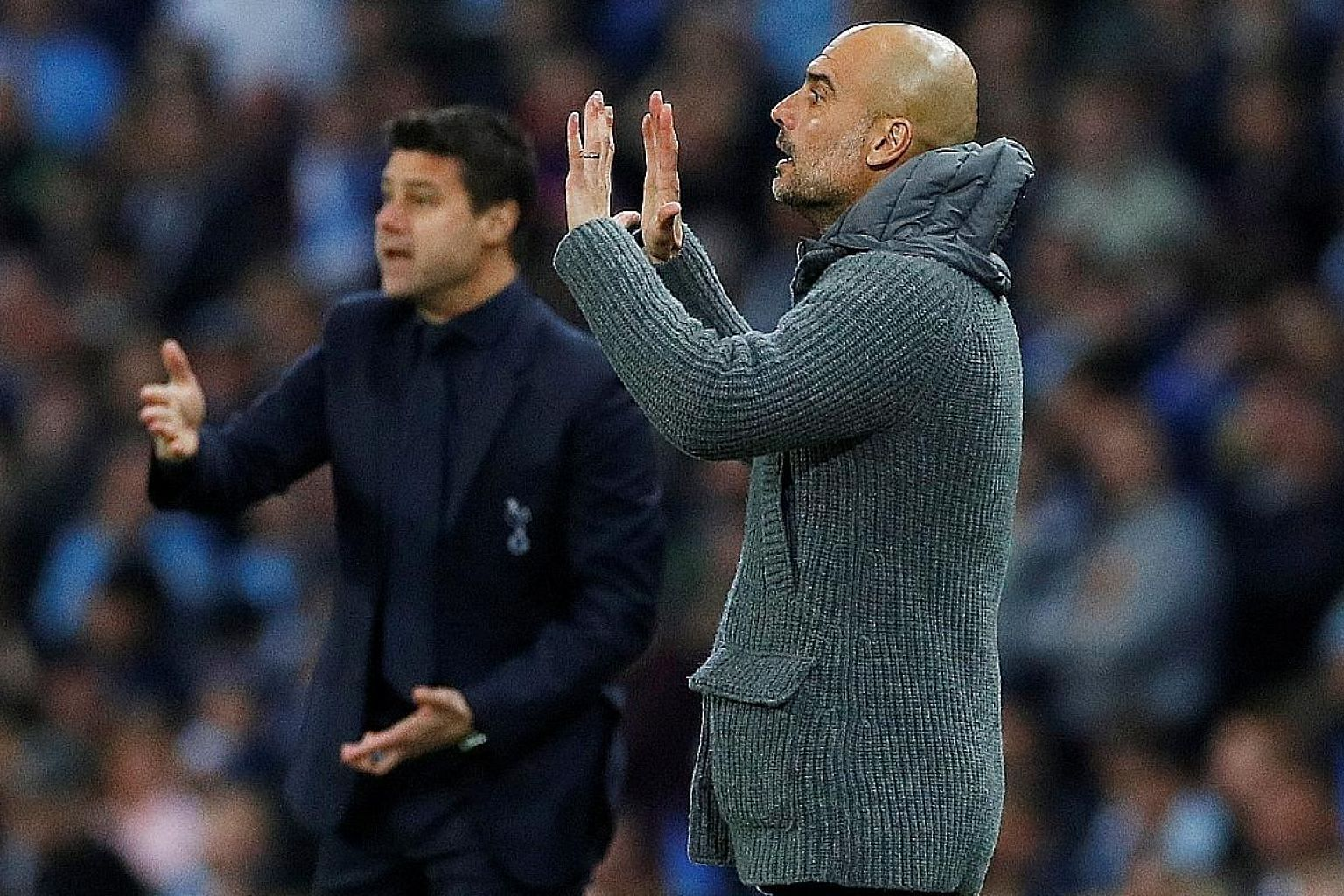 Manchester City manager Pep Guardiola expects today's Premier League clash against Tottenham to be as intense as the Champions League quarter-final second leg on Wednesday but he will not change his approach.