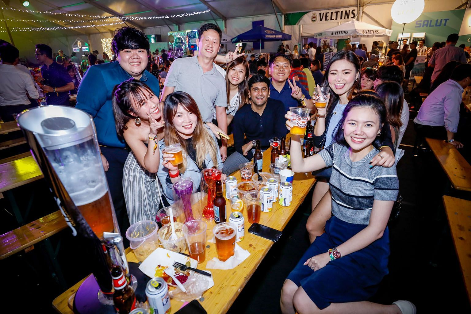 Patrons making a toast at Beerfest Asia last year. This year's edition offers more than 600 beers and marks the debut of the Beerfest Run.