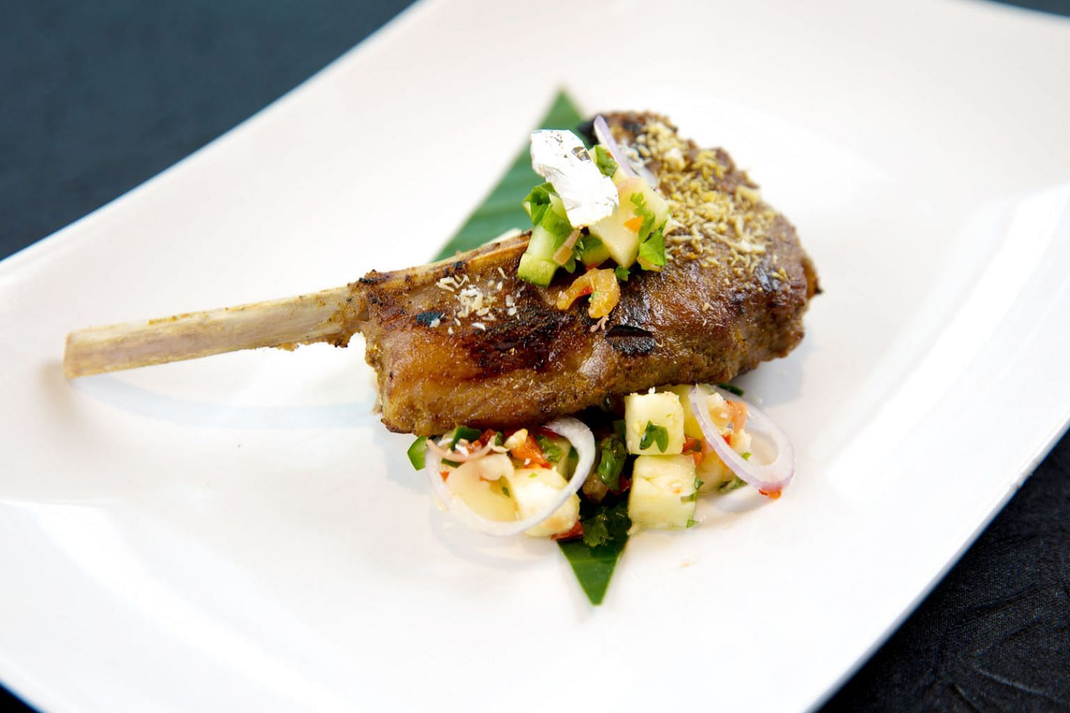 One of the star items is the Rendang Style Lamb Rack with Honey Pineapple Kerabu Salsa.