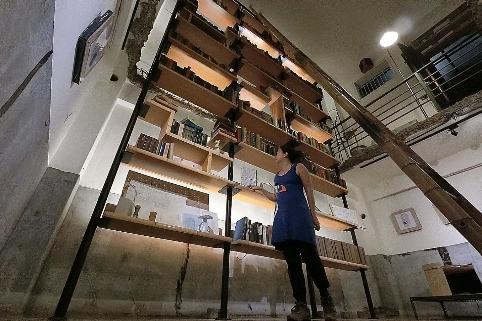 You can read all day at book-themed CaoJi Book Inn (above) in Tainan, where dormitory beds are tucked into book shelves.