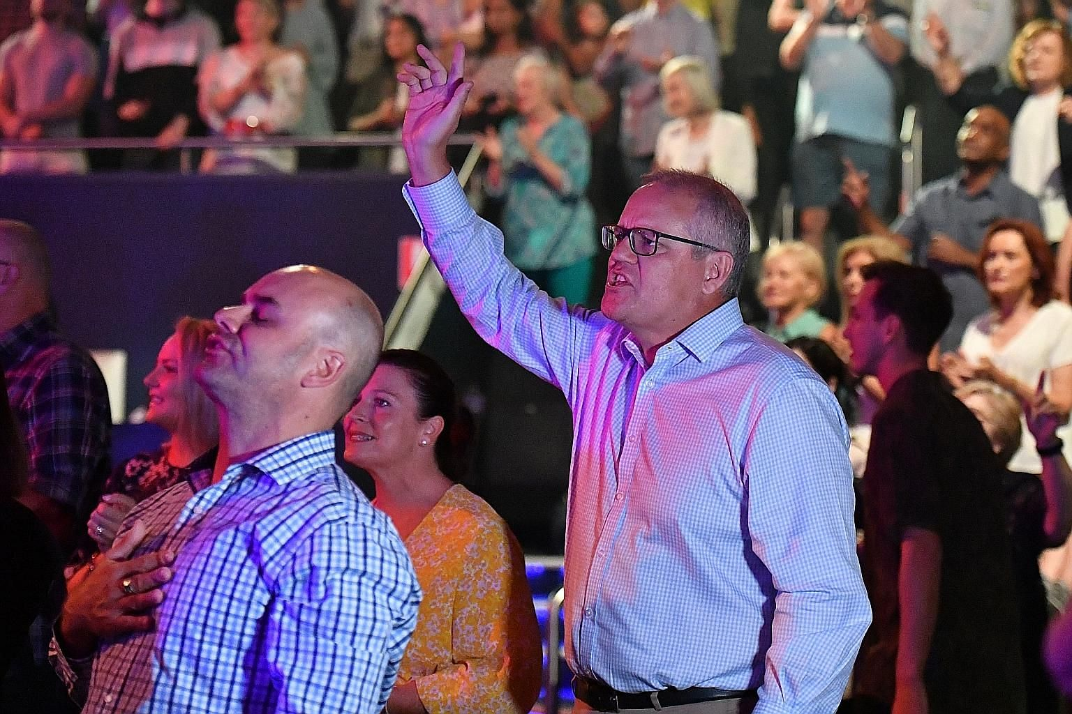 Australian Prime Minister Scott Morrison allowed the media to follow him as he attended an Easter service at Horizon Church. Critics accused him of trying to make political gains from his religious worship, while others said the images helped to demo