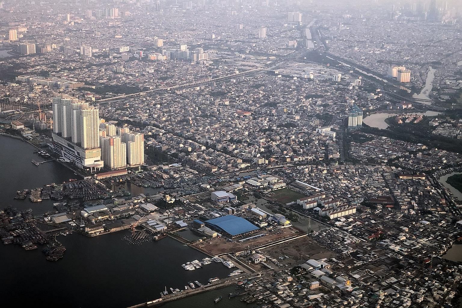 The Indonesian capital, Jakarta, is home to more than 10 million people, but around three times that many people live in the surrounding towns, adding to the severe congestion. The low-lying city is prone to flooding and is sinking due to over-extrac