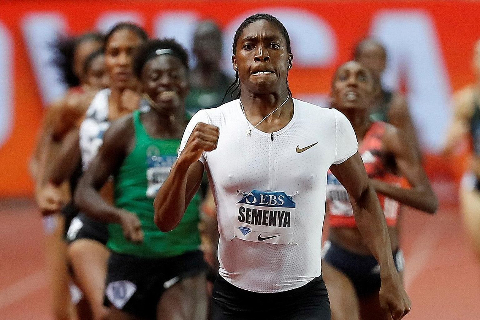 South Africa's Caster Semenya romping to victory in the 800m event in Monaco last year. The IAAF regulations require middle-distance female athletes with high natural levels of testosterone, like Semenya, to take hormone suppressants. PHOTO: REUTERS