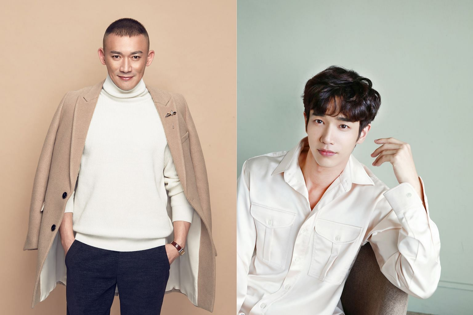 Story Of Yanxi Palace actor Nie Yuan (left), who plays Emperor Qianlong, and Taiwanese actor-model Jasper Liu (right) are among the celebrities lined up to make an appearance at StarHub's It's Show Time event at Plaza Singapura next week.